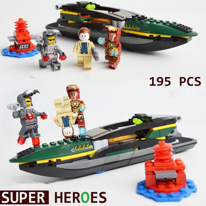 2015 super hero iron man 3 minifigs steamboat building - Lego iron man 3 ...