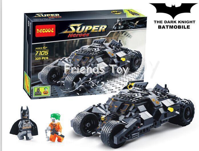 325pcs batman the tumbler batmobile joker super heroes dc building blocks marvel set minifigures. Black Bedroom Furniture Sets. Home Design Ideas