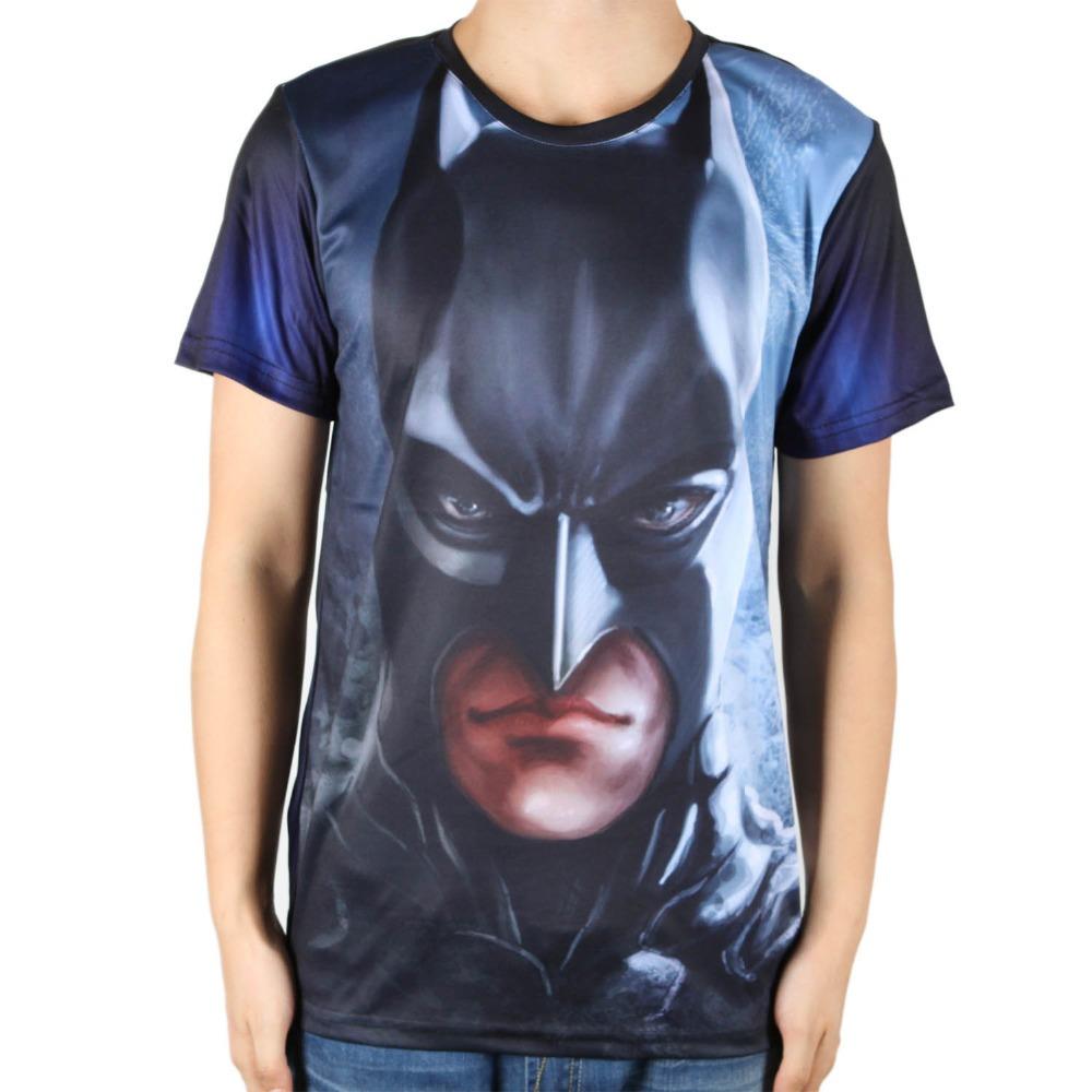 100 polyester marvel comics super hero tshirts custom round neck batman t shirt men super. Black Bedroom Furniture Sets. Home Design Ideas