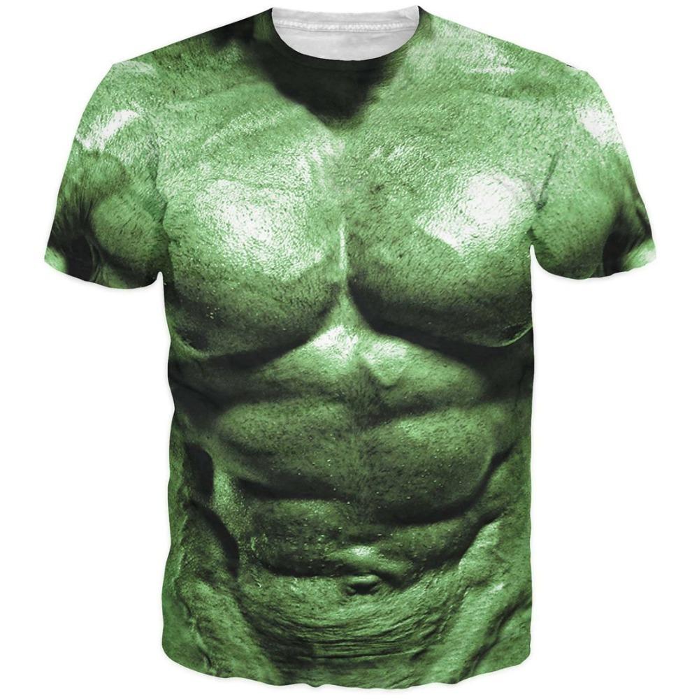 2016 t shirt men summer mens fashion 3d printed hulk comic for Printed t shirts mens fashion