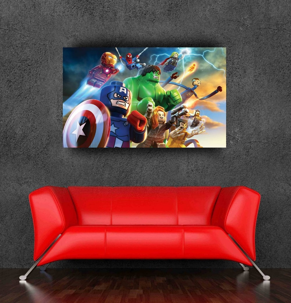 Hot cartoon marvel avengers super hero wall poster sticker on wall hot cartoon marvel avengers super hero wall poster sticker on wall for kids room decoration super heroes galore amipublicfo Gallery