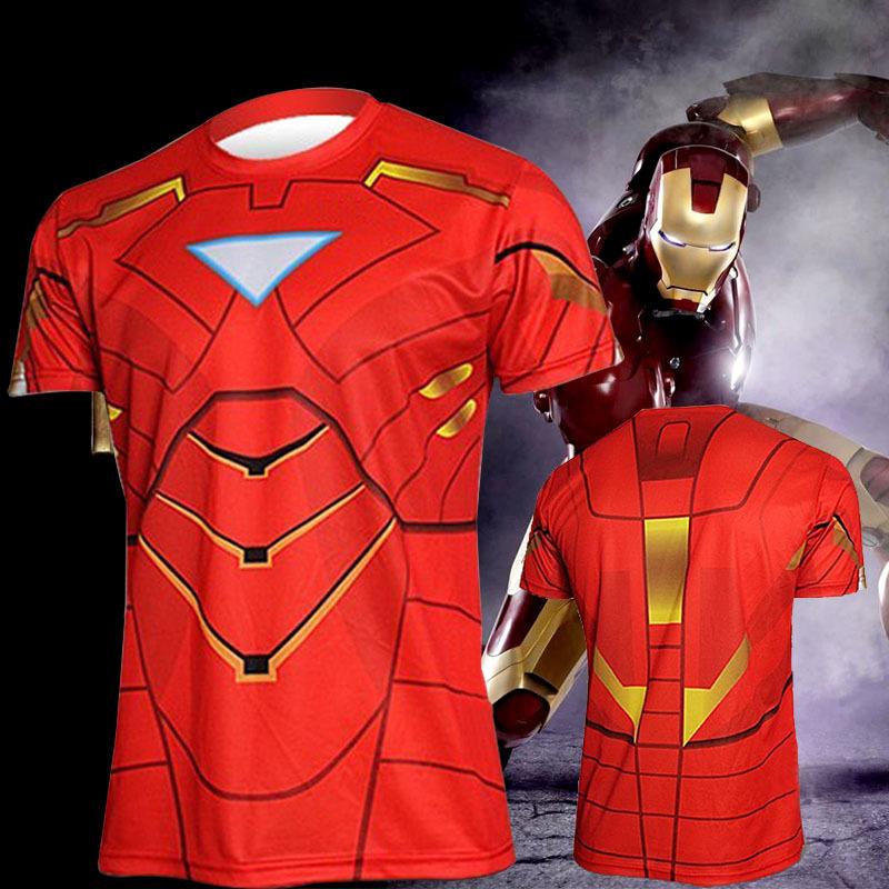 New Summer Sports Casual Jersey Jogging Men's Iron Man 3D