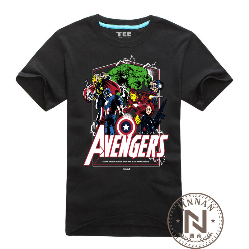 The avengers t shirt men boy t shirt marvel comic movie Boys superhero t shirts
